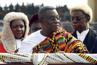 L'actuel président ghanéen John Atta Mills