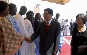 Le président chinois Hu Jintao lors d'un voyage sur le continent africain