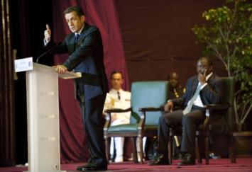Nicolas Sarkozy lors d'un séjour en République Démocratique du Congo