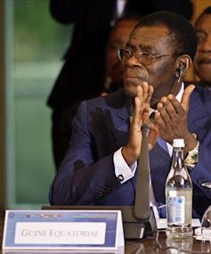 Le pr�sident �quato-guin�en Obiang Nguema Mbasogo