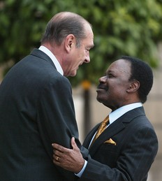 Omar Bongo Ondimba ici avec Jacques Chirac