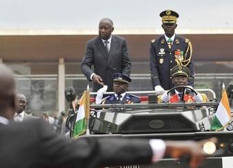 Laurent Gbgabo lors des festivités du cinquantenaire de l'indépendance