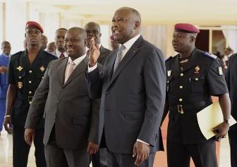 Laurent Gbagbo et son premier ministre Guillaume Soro