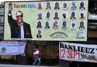 Affiche de campagne d'Alpha Condé