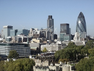 La city, quartier financier de Londres