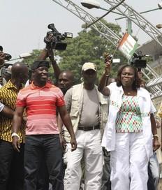 Charles Blé Goudé ici avec Simone Gbagbo