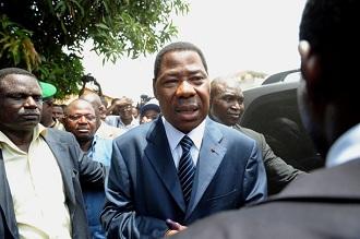 Le président sortant Yayi Boni le dimanche 13 mars après son vote