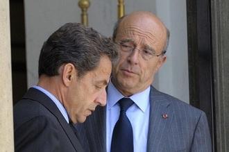 Alain Juppé et Nicolas Sarkozy le 6 juillet 2011 à l'Elysée