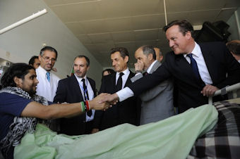 Nicolas Sarkozy et David Cameron