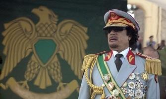Mouammar Kadhafi  le 1er septembre 2009 lors du 40�me anniversaire de sa prise de pouvoir
