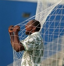 Rashidi Yekini en 1994 � Dallas apr�s son but face � la Bulgarie