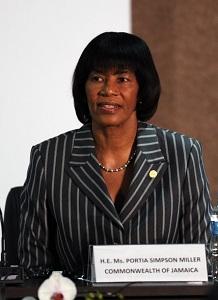 Portia Simpson Miller, premier ministre de la Jamaïque