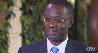 Tidjane Thiam, PDG de Prudential lors de son interview dans l'�mission ''African Voices'' de CNN