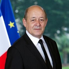 Jean Yves Le Drian, ministre français de la défense