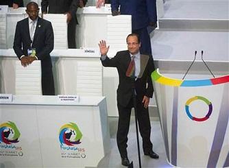 François Hollande au sommet de la francophonie à Kinshasa