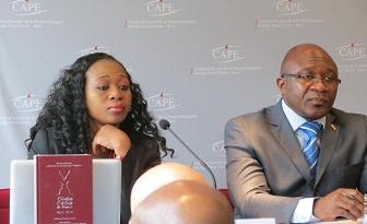 Elie Nkamgueu et Carole Da Silva lors de la pr�sentation de la 2�me �dition du gotha noir de France