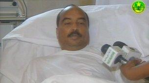 Mohamed Ould Abdel Aziz est apparu à la télévision avant son départ pour Paris