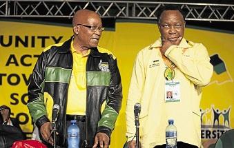 Jacob Zuma et son ex-vice président Kgalema Motlanthe devenu son challenger lors du congrès de l'ANC à Mangaung