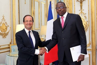 Mankeur Ndiaye et François Hollande