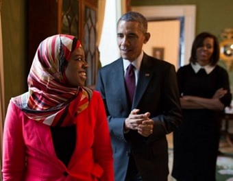 Saheela Ibraheem à la Maison Blanche le 26 février 2015