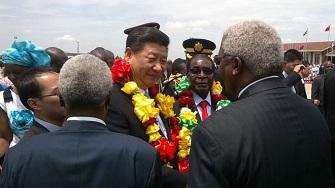 Le président chinois accueilli par ses homologues