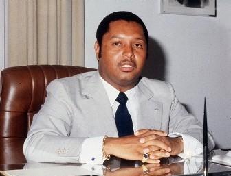 Jean-Claude Duvalier, à l'époque où il était surnommé ''Bébé Doc''