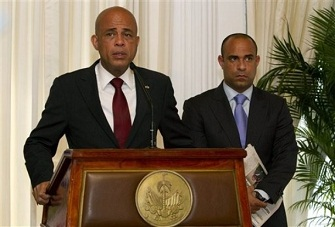Michel Martelly et Laurent Lamothe
