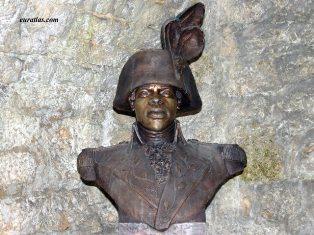 Buste de Toussaint Louverture au fort de Joux