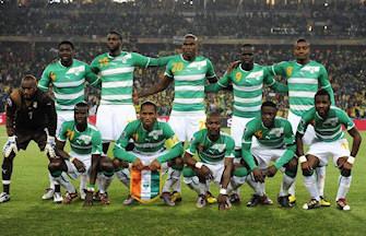 L'équipe ivoirienne qui a débuté face au Brésil