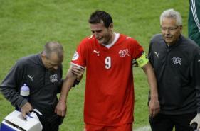 Alexander Frei, blessé, est sorti en larmes