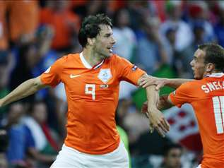 Van Nistelrooy après son ouverture du score