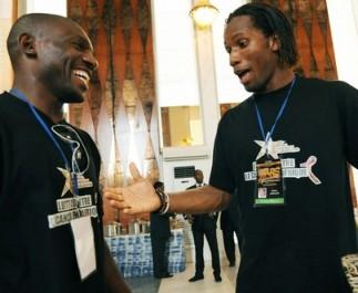 Geremi et Drogba le 17 juin dernier à Abidjan