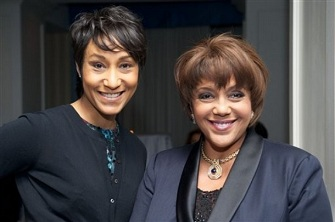 Desiree Rogers et Linda Johnson Rice en mars 2010