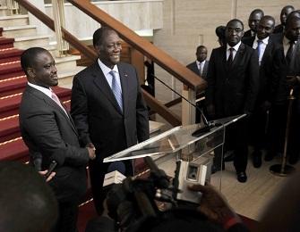 Guillaume Soro apr�s sa d�mission le jeudi 8 mars 2012