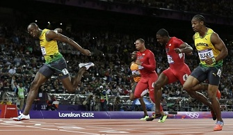 Usain Bolt remporte la m�daille d'or olympique sur 100 m�tres