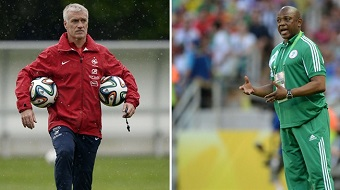 Didier Deschamps et Stephen Keshi