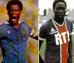 Marius Trésor, meilleur défenseur français des années 70 et Jean-Pierre Adams formaient la ''garde noire'' de l'équipe de France