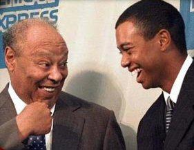 Tiger Woods et son père