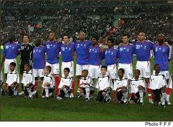 L'equipe de France contre l'Allemagne le 12 nov 2005