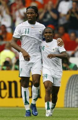 Didier Drogba et Bakary Koné en équipe de Côte d'Ivoire
