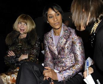 En compagnie de Anna Wintour, directrice de Vogue