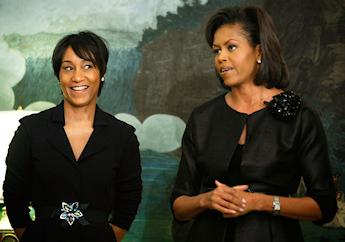 Avec Michelle Obama à la Maison-Blanche
