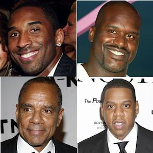 Kobe Bryant, Shaquille O'neal, Jay-Z et Ken Chenault
