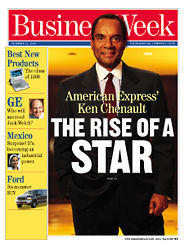 Ken Chenault en couverture de ''Business Week'' en décembre 1998