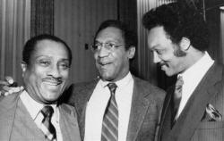 John Johnson en compagnie de Bill Cosby et du révérend Jesse Jackson