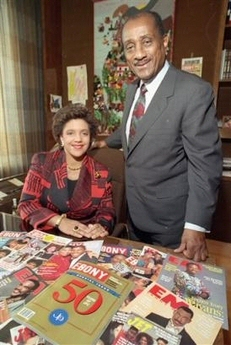 John Johnson et sa fille Linda Johnson Rice qui dirige Johnson Publishing