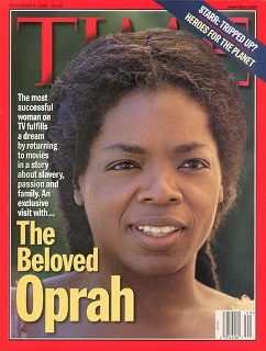 "Oprah Winfrey en couverture de ""Time Magazine"" � l'occasion de la sortie de ""beloved"""