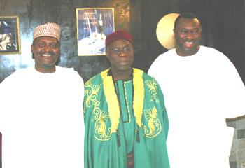 Aliko Dangote, Olusegun Obasanjo, et Femi Odotela