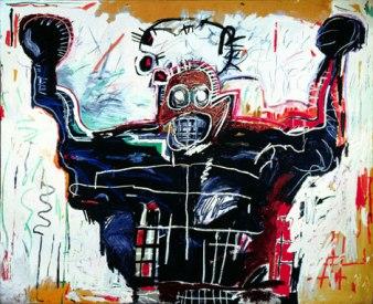 La toile sans titre de Jean-Michel Basquiat représentant un boxeur