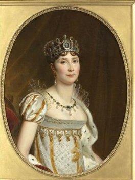 Joséphine de Beauharnais, Impératrice des Français, en costume impérial. (détail du grand portrait officiel)